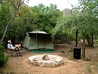 Camping in the bush near Steytlerville