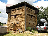 Blockhouse accommodation (photo Andrew Hugo)