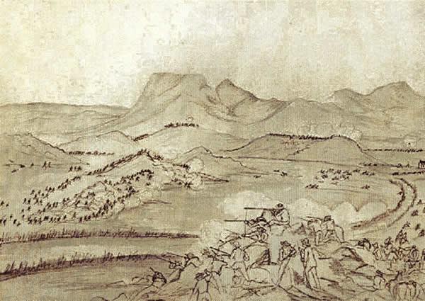 Sketch of the battle of Boomplaats
