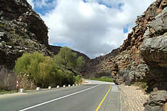 Meiringspoort through the Swartberg, built by Thomas Bain