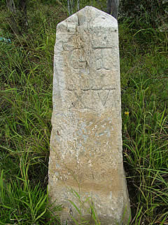 The 15th mile stone on the Queen's Road between Grahamstown and Fort Beaufort [rsb]